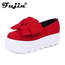 fujin flat shoes women spring