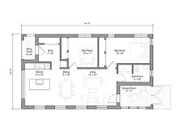 square foot energy efficient prefab house plan by GO Logic  Main Level Plan