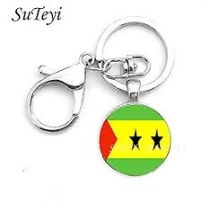 CIVIQ Round <b>Men Jewelry Key Chain</b> Sao Tome and Principe and ...