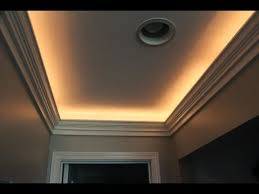 diy crown molding with indirect lighting installation youtube accent lighting ideas
