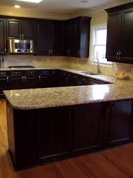 dark kitchen colors dark and light kitchen love the color combo of cabinet and countertops