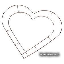 <b>Heart wreath frames</b>: Wire <b>heart frames</b> for making <b>wreaths</b> or using ...