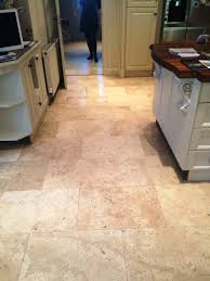 limestone tiles kitchen:  limestone tiled kitchen floor after cleaning and sealing in marlow
