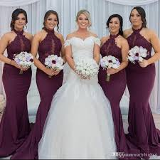 <b>New Hot Purple</b> Grape Mermaid Bridesmaid Dresses 2018 Elegant ...