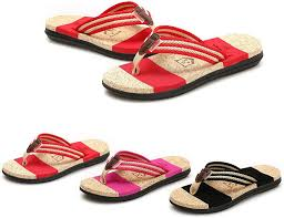 Forthery Mens Light Weight Thong <b>Sandals Casual</b> Beach Stripe ...