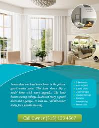 real estate flyers  flyer flyer templates call owner flyer circles