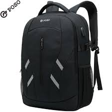 POSO <b>Backpack</b> Casual Laptop <b>Backpack</b> With USB Port <b>Outdoor</b> ...