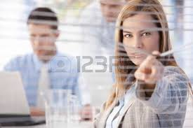 beautiful young businesswoman peeping through blind from bright office stock photo 8951358 beautiful bright office