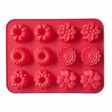 <b>Форма для выпечки Cupcakes</b>, 31х24х3 см, 12 кексов, красная ...