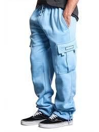 G-Style USA <b>Men's Solid</b> Fleece <b>Cargo Pants</b> - BLACK - 2X-Large