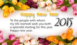 Beautiful Happy New Year Wishes 2015 for Friends and Family