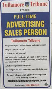 ie midland tribune full time advertising s person