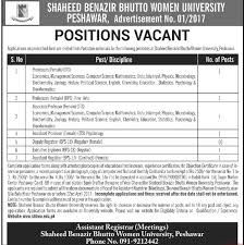 shaheed benazir bhutto women university jobs mashriq jobs ads  related articles