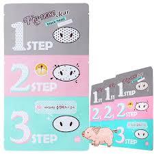 [<b>HOLIKA HOLIKA</b>] <b>Pig</b>-<b>Nose Clear Black</b> Head x 3pcs (3 Step Kit)