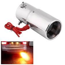 New 30 60mm <b>Universal Stainless Steel Car</b> LED Red Light Tail ...