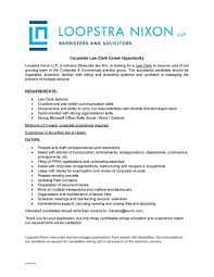 loopstra nixon llp linkedin our growing corporate commercial group is looking for an organized and proactive law clerk to join their team minimum 3 years corporate experience