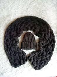 Купить Горький шоколад комплект <b>шапка</b> с отворотом и шарф в ...
