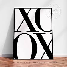 XOXO Kisses Typography PRINTABLE <b>Wall Art Large Size</b> | Etsy