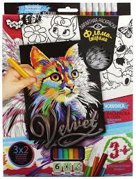 <b>Danko Toys Раскраска</b> Velvet Кошечка — купить в интернет ...