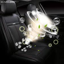 12V leather universal <b>car cushion car seat heated</b> massage fan ...