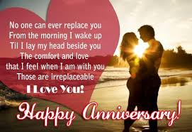 Happy Wedding Anniversary Wishes for wife Messages Quotes Images via Relatably.com