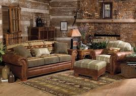 image of log cabin living decor cabin furniture ideas