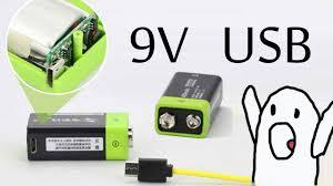 Аккумулятор <b>крона</b> 9V с зарядкой от USB ZNTER S19 - YouTube