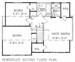Add a Second Floor  CAP     The House DesignersRemodeled Second Floor Plan