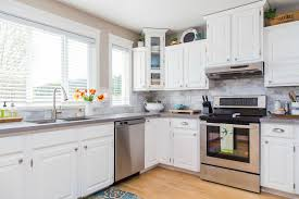beautiful white kitchen cabinets:  contemporary kitchen cabinets design fresh space that appears to be more spacious the white paint simply white by