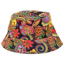 Anjoy <b>Fashionable Unisex</b> Satin Lined Printed Pattern Cotton <b>Bucket</b> ...