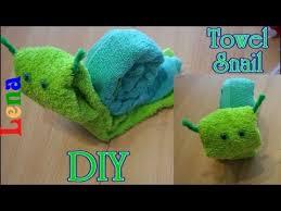 Gästetuch Schnecke falten Towel snail DIY улитка из полотенца в ...