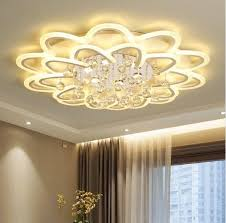 Surface Mounted Modern crystal Led Ceiling Lights For <b>Living Room</b> ...