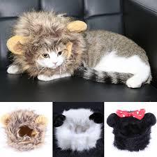 <b>Funny Pet Dog Cat</b> Wigs Halloween Christmas Panda Mickey Lion ...