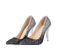 Buy THE LONDON STORE <b>Women's High Thin Heels</b> Bridal Pointed ...