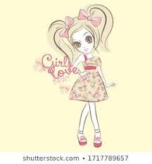 <b>Cute Girl</b> Vector Images, Stock Photos & Vectors   Shutterstock