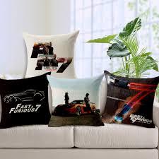 decor linen fabric multiuse: multi use pillowcase speed limit  movie posters cushion back decor cubierta de la caja