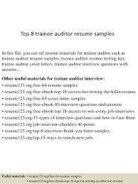 top  trainee auditor resume samplestop  trainee auditor resume samples in this file  you can ref resume materials for