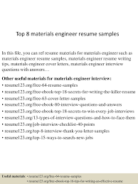 materials engineer sample resume electronic technician resume sample app6891 thumbnail 4jpg cb 1432128309 top8materialsengineerresumesamples 150520132420 lva1 app6891 thumbnail 4 top 8 materials engineer resume samples