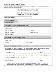 proof of employment letter sample employment verification letter proof of employment form 01