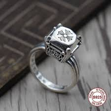 <b>S925 Pure Silver</b> Men'S Ring Personality Do Old <b>Restoring</b> Ancient ...