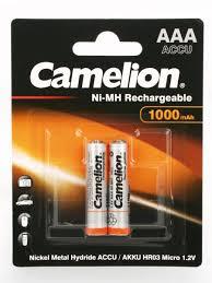 <b>Аккумуляторы</b> NH-AAA1000BP2, ААА, 2шт. Camelion 8524092 в ...