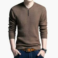 <b>Cotton</b> Full Sleeves <b>Mens Knitted T Shirt</b>, Size: M to XL, Rs <b>100</b> ...