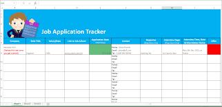 application tracker spreadsheet job application tracker spreadsheet