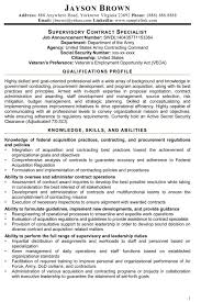 government contracting resume format