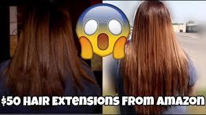 $50 AMAZON HAIR EXTENSIONS | <b>Full Shine</b> Hair <b>Tape</b> In Hair ...