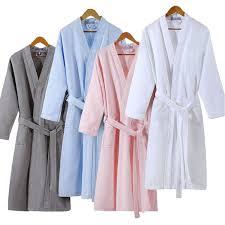 lovers fashion waffle plus size bathrobe women men sexy kimono peignoir bridesmaid robes dressing gown
