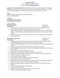entry level social service resume