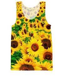 <b>FORUDESIGNS</b> Funny 3D Yellow Sun <b>Flowers Print Women</b> T ...