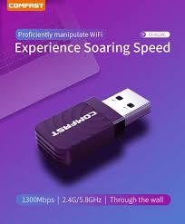 Online Shop 1300Mbps Mini USB <b>Wifi</b> Network Card Dual Band <b>Wifi</b> ...