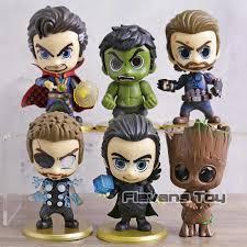 <b>Marvel</b> the <b>Avengers 8pcs</b>/<b>set</b> Kawaii Mini Spider man Iron Man Hulk ...